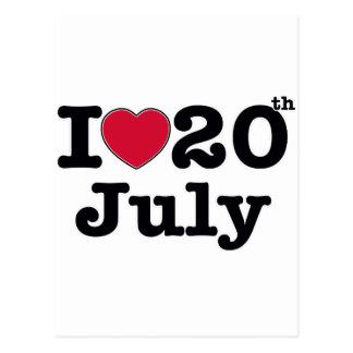 20 de julio mi día de cumpleaños tarjetas postales