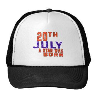 20 de julio una estrella nació gorra
