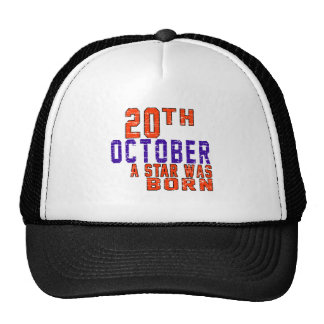 20 de octubre una estrella nació gorros bordados
