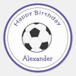 20 deportes adaptables del balón de fútbol de los  etiquetas redondas