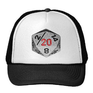 20 echó a un lado el juego - dado del sombrero sol gorras
