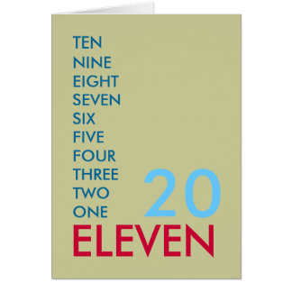 20 ELEVEN (2011) Greeting Card