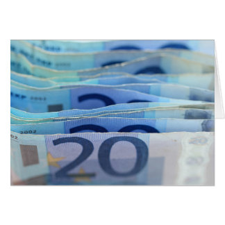 20 euro bills stationery note card