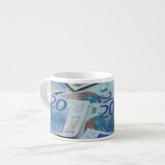 20 euro bills - Money Art Espresso Cup