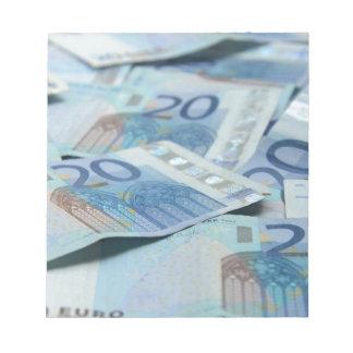 20 euro bills - Money Art Note Pad