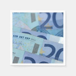 20 euro bills - Money Art Disposable Napkin