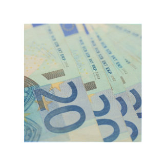 20 euro bills - Money Art Wood Wall Art