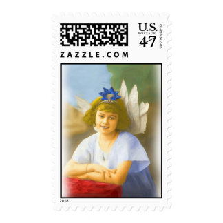 20 First Class Vintage Angel Girl Stamps