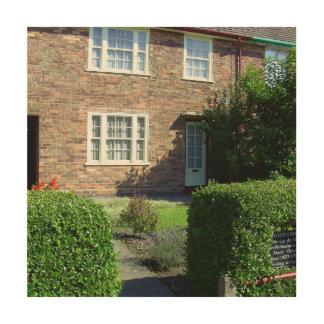20 Forthlin Road. Childhood home of Paul McCartney Wood Wall Decor