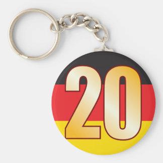 20 GERMANY Gold Keychain
