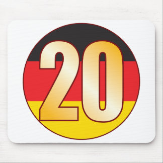 20 GERMANY Gold Mouse Pad