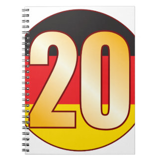 20 GERMANY Gold Notebook