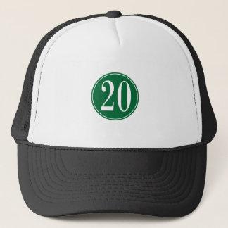 #20 Green Circle Trucker Hat