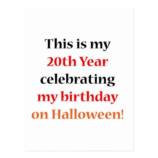 20 Halloween Birthday Postcard