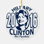 20 Hillary 16 Blue Ornaments