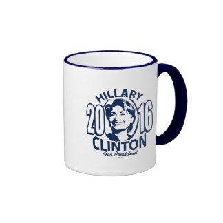 20 Hillary 16 Blue Ringer Coffee Mug