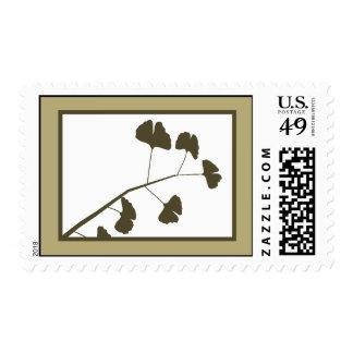 20 hojas blancas del Ginkgo de los sellos