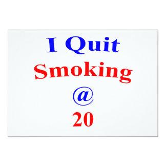 20  I Quit Smoking Card