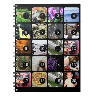 20 imágenes hacen su cubierta de la foto del libros de apuntes con espiral