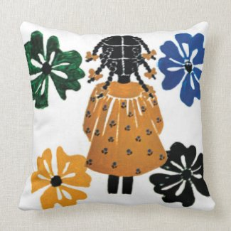 20 inch Cotton Pillow Designed by Rose Hill