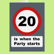 20 is when the Party Starts Card