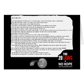 20 Laws of No Hope for the Human Race Card