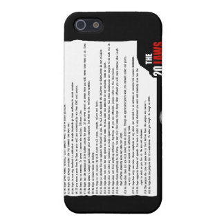 20 Laws of No Hope for the Human Race Case For iPhone SE/5/5s