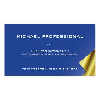 20 Modern Professional Business Card blue, gold