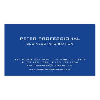 20 Modern Professional Business Card royal blue