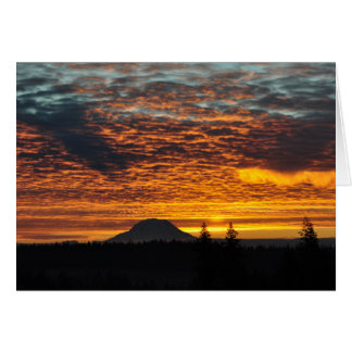 #20 Mount Rainier and its Shadow Card