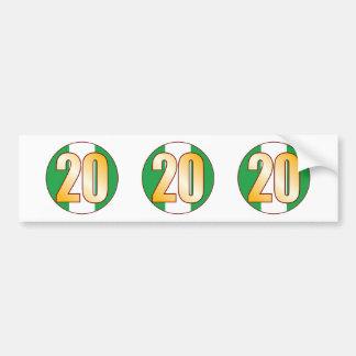 20 NIGERIA Gold Bumper Sticker