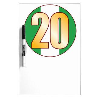 20 NIGERIA Gold Dry Erase Board