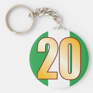 20 NIGERIA Gold Keychain