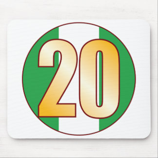 20 NIGERIA Gold Mouse Pad