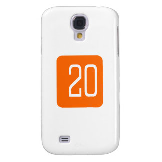 #20 Orange Square Samsung Galaxy S4 Case