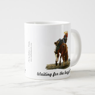 20 oz. Mug, Bronc Buster, Waiting for the buzzer! 20 Oz Large Ceramic Coffee Mug