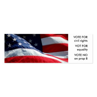 20-pack Vote No On Prop 8 skinny cards Mini Business Card