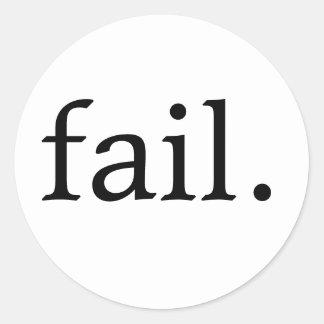 ¡20 pegatinas del fall! pegatina redonda