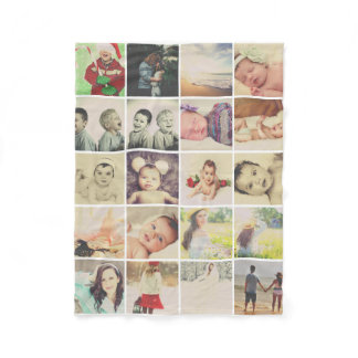 20 photos collage make your own personalized fleece blanket