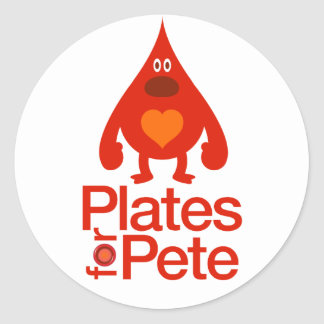 20 pk Plates for Pete Stickers