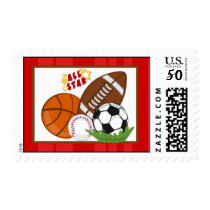 20 Postage Stamps All-Star Red