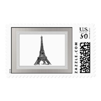 20 Postage Stamps Black Eiffel Tower