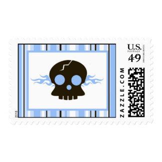 20 Postage Stamps Boy Blue Punk Rocker Guitar