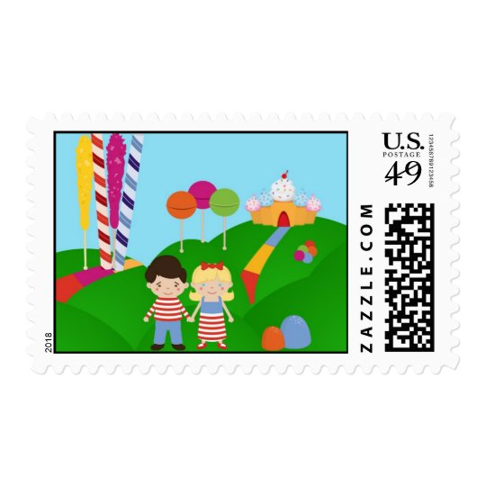 20 Postage Stamps Candy Land Ice Cream Lollipop