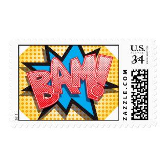 20 Postage Stamps Comic Strip Book Pop Art Cartoon