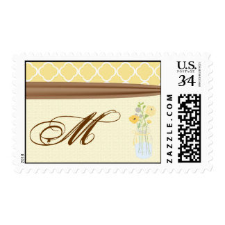 20 Postage Stamps Country Mason Jar Flowers Bouque