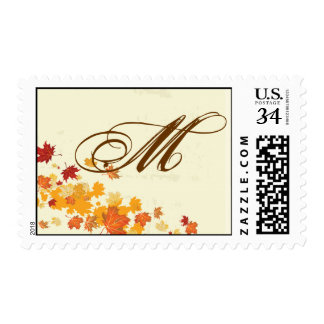 20 Postage Stamps Fall Breeze Autumn Leaves Tree