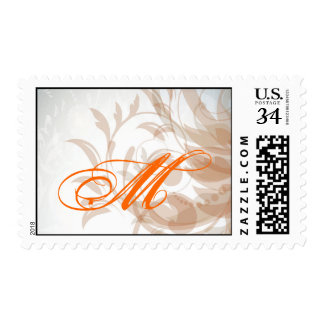 20 Postage Stamps Fall Filigree Autumn Swirl Damas