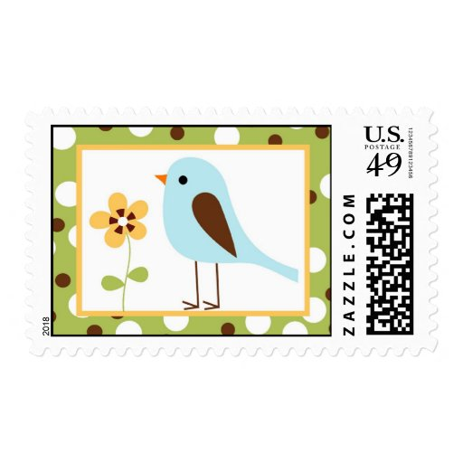 20 Postage Stamps Forest Friends Bird