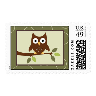 20 Postage Stamps Forrest Animal Owl Deer Bird